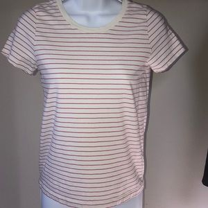 J crew pink striped tshirt